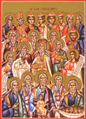 Icon for Sunday of the Forefathers.
